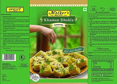 Mothers Recipe-Khaman Dhokla Mix-180gm-Gujrati delicacy from Indian cuisine