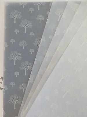 Printed Vellum Paper White Trees 25 x A4 115gsm Cardmaking Scrapbooking AM564
