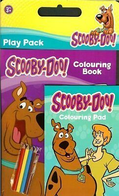 Scooby Doo Book & Pad with coloured Pencils Play Pack