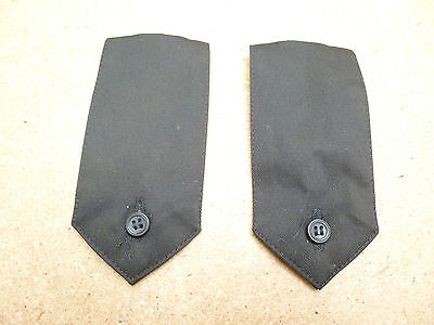 PAIR Ex Police Black Security Shirt Button On Epaulettes Epaulette Type 3 (B2)