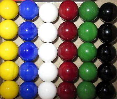 30 Solid Color Replacement Marbles Chinese Checkers Aggravation game 14mm GLASS