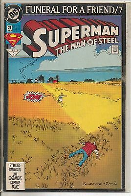 DC Comics Superman The Man Of Steel #21 March 1993 Funeral For A Friend NM