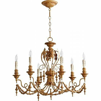 Quorum Salento 6 Light Chandelier in French Umber