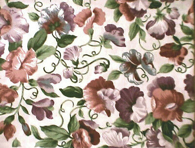 Longaberger Rare Retired Sweetpea Floral Fabric-Half Yard-Shop Our Store