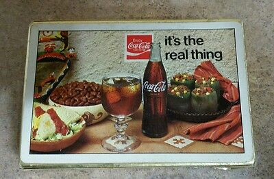 1971 Coca Cola  Playing Cards It's The Real Thing slogan Brown & Bigelow