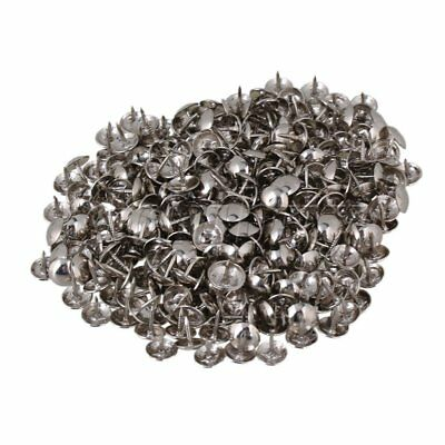200pcs Silver Round Dome Head Upholstery Nails Stud Furniture Decorative Pins