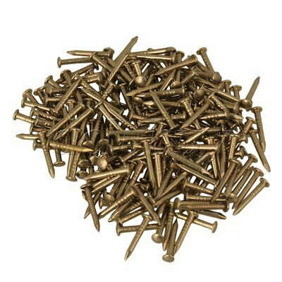 10mm Round Head Vintage Pure Copper Furniture Miniature Nail Set of 100