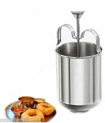 Doughnut Donut Maker Steel With Stand Menduwada Meduwada Maker Manual Dispenser