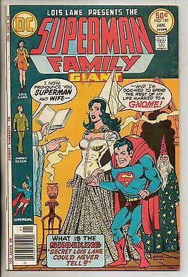 DC Comics Superman Family #181 January 1977 Giant Size F+