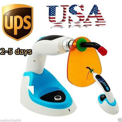 10W Wireless Cordless LED Dental Curing Light Lamp 2000MW+Whitening USA Ship A++