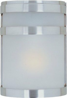 Maxim Arc Outdoor Wall Sconce Lighting, 60 Total Watts, Stainless Steel