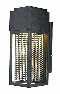 "Townhouse-12"" 7W 1 LED Outdoor Wall Lantern, Galaxy Black/Stainless Steel Finish"