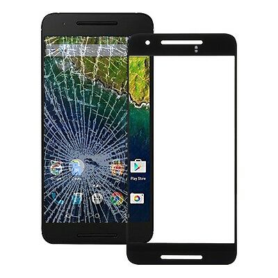 Google Nexus 6P Display Glas Touch Screen Front Glass Schwarz Neu