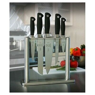 Knife Block Set Stainless Steel Knives Cutlery Kitchen Chef Cook Culinary Food