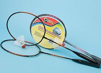 Metal Badminton Set Two Tone With Two Rackets And Shuttlecock Summer Outdoor Fun