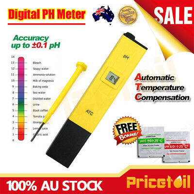 OZ Digital PH Meter Tester Pool Water Spa Aquarium Measure Pen PH Level Test Kit