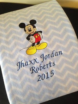 Personalised Baby Blanket  fleece with Character Arrival Gift