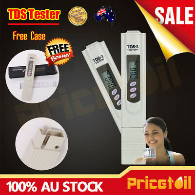 OZ Digital LCD TDS EC TEMP PPM Meter Tester Hydroponic Pen Water Quality Purity
