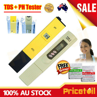 Digital PH Meter TDS Tester Aquarium Pool SPA Hydroponic Water Quality Monitor