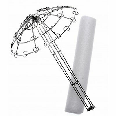 Amazing Large Wedding Brooch Bouquet Holder Frame Armature - Silver
