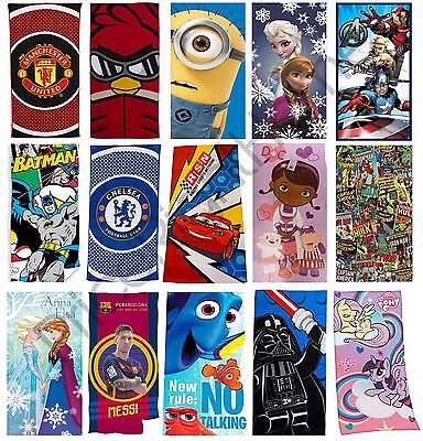 Character & Football Kids Cotton Beach Towels Lego, Cars, My Little Pony + More!
