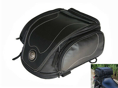 Expandable 12 Litre Tail Bag for Indian Scout Chief Roadmaster