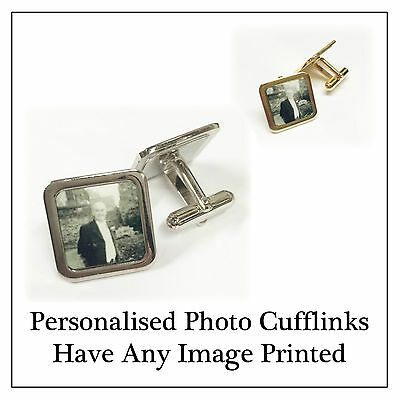 Personalised Photo Cufflinks - Have Any Image Printed Memory Gift, Wedding Wear