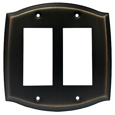 Oil Rubbed Bronze Double Decora GFI Switch Wall Plate