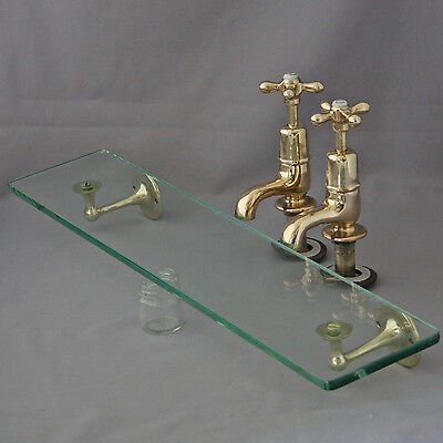 1920's Shanks Basin Taps and Shelf
