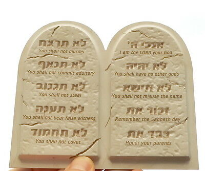 DECALOGUE 3D MAGNET Ten 10 Commandments Hebrew English Jewish Torah Israel Bible