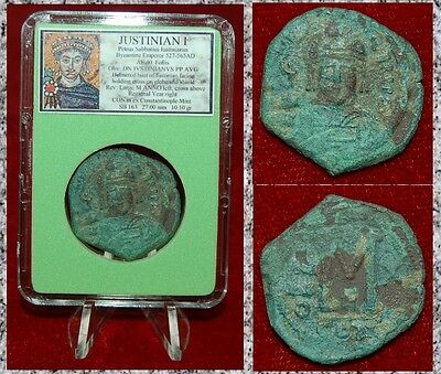Ancient Bezantine Empire Coin Of JUSTINIAN I Constantinople Large Follis