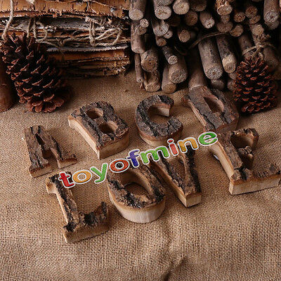 Vintage Wood A-Z 26 Alphabet Letters Wall Hanging Plaque Sign Home Wedding Decor