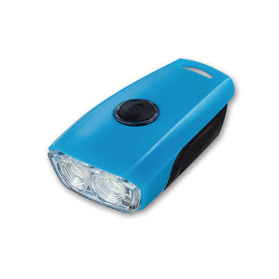 Blue GUEE Flipit Bike Cycling Sports LED Rechargeable Front Head Safety Light