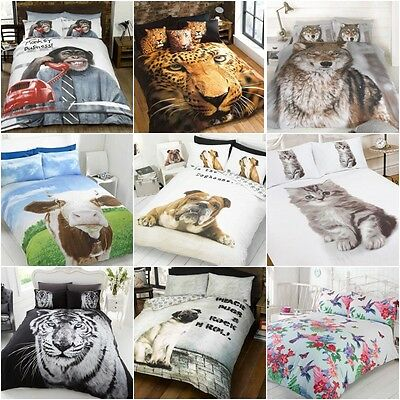 Animal Dog Lovers Duvet Set Quilt Cover Bedding & Pillowcases 3D Photographic