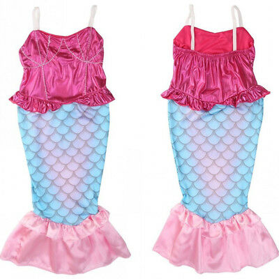 Little Mermaid Children Kids Girls Outfits Dress Up Costume Princess Dresses