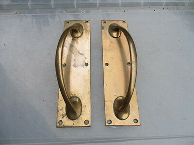 Antique Bronze Door Handles Pulls Shop Architectural Salvage Vintage Old Brass