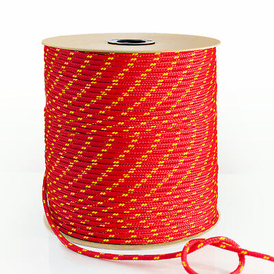 RED 1-50m POLYPROPYLENE ROPE 3mm-20mm synthetic fiber floating cord marine sash