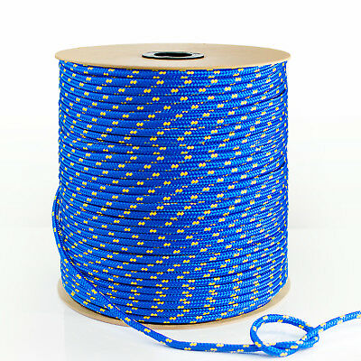 BLUE 1-50m POLYPROPYLENE ROPE 3mm-20mm synthetic fiber floating cord marine sash