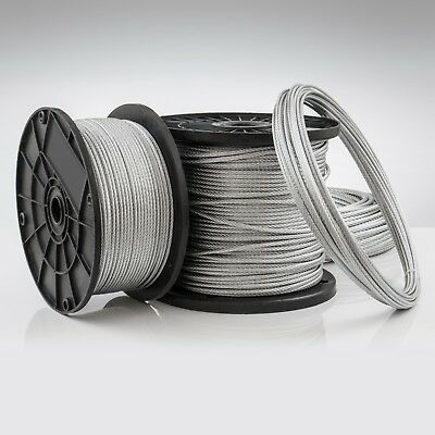 STAINLESS STEEL WIRE ROPE metal INOX marine cable L: 1-100m D: 1-10mm 7x7 7x19