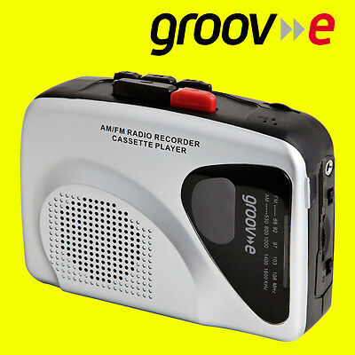 Groov-e Retro Series Personal Cassette Player Recorder Walkman AM/FM Radio New
