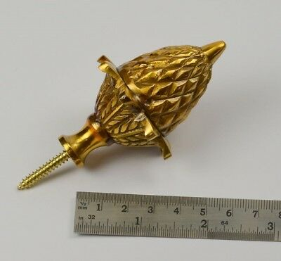 BRASS Acorn finial clock cases decoration 83mm high old clocks long case mantle