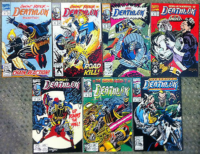 Selection Of 7 Marvel Comics Deathlok Excellent Condition