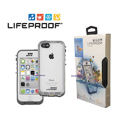 New! LifeProof Nuud Waterproof Case for Apple iPhone 5C Glacier, White