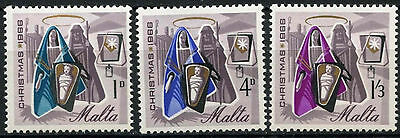 Malta 1966 SG#376-8 Christmas MH Set #D22989