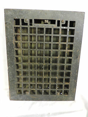 Vintage 1920S Cast Iron Heating Grate Square Design 13.75 X 10.75 O