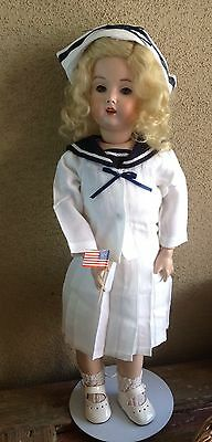 """Patriotic Sailor suit 3pc.  Doll Dress For Daisy Elmira & Other 18 To 20"""" Dolls."""