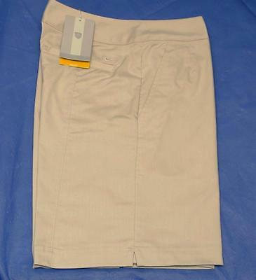 New Womens Size 4 Nike Dri Fit Cotton Poly Spandex beige golf shorts 298634