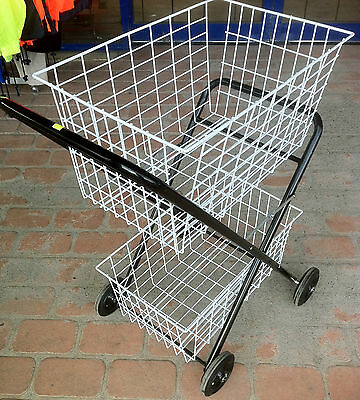 Shopping Trolley Jeep, Two Tier Wire Basket, Folding Heavy Duty PICK UP ONLY
