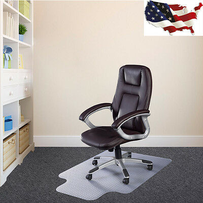 PVC Home Office Chair Floor Mat with Lip for Standard Pile Carpet US Ship