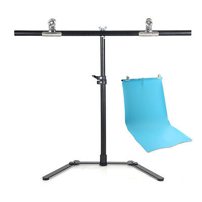 68*68cm Photography PVC Backdrop Background Support Stand System Metal w/2 clamp